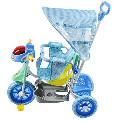 Dreirad Kinderdreirad Fahrrad Baby Kleinkinder Dreiräder Schieber Neu #2543, Farbe:Blau