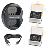 NP-FZ100 Newmowa Battery (2-Pack) and Dual USB Charger for Sony NP-FZ100, BC-QZ1 and Sony Alpha 9, Sony A9, Sony Alpha 9R, Sony A9R, Sony Alpha 9S, Sony A7RIII A7R3, Sony a7 III Digital Camera