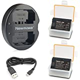 Newmowa NP-FZ100 Battery (2-Pack) and Dual USB Charger for Sony NP-FZ100, BC-QZ1 and Sony Alpha 9, Sony A9, Sony Alpha 9R, Sony A9R, Sony Alpha 9S, Sony A7RIII A7R3, Sony a7 III Digital Camera