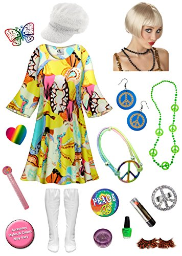 Rhapsody Gogo Dancer Plus Size Halloween Costume DLX Blonde Wig Kit 4x/Micro - 70s Go Go Dancer