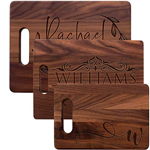 (Personalized Cutting Board, Walnut Cutting Board - Personalized Gifts - Wedding Gifts for the Couple, Engagement Gifts, Gift for Parents, Real Estate Agent Closing Gifts)