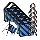 Neewer 6-Pack Heavy Duty Sandbag (Blue/Black) for Photo Studio Light Stands Boom Arms with 6-Pack Muslin Backdrop Spring Clamps Clips (Empty Sandbag)