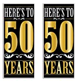 Beistle 59633 50'' Years Door Covers 2 Piece, 30'' x 6', Multicolored