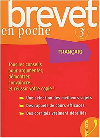 Amazon Fr Brevet En Poche Francais 3eme Lehu Livres
