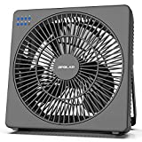 OPOLAR 8 Inch Desk Fan, USB Operated, 4 Speeds+Natural Wind, Timer, Quiet Operation