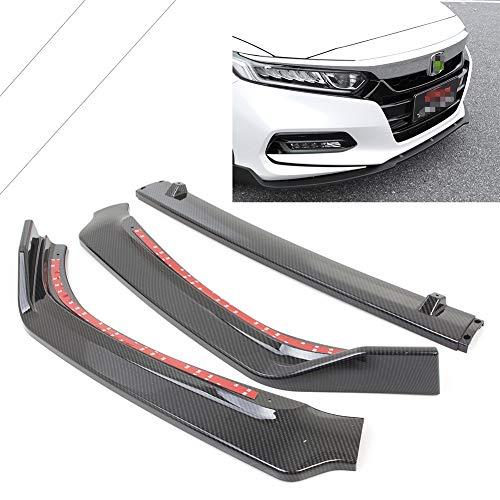 - GZYF Bumper Lip, Carbon Fiber Front Lip Spoiler Splitter for Honda Accord 2018