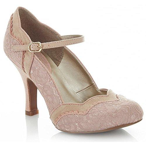 Ruby Shoo Women's Rose Pink Imogen Mary Jane Pumps UK 6 EU 39 - Divine Ankle Strap Pumps