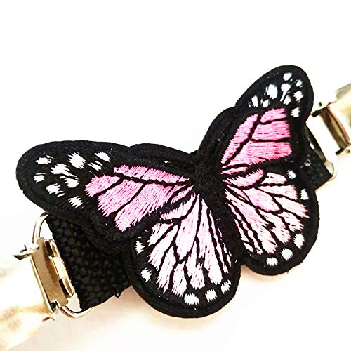 Ever Cute Butterfly Sweater Cardigan Clips Guard Brooch Pin Clothes Waist Cinch Clip Mittens Bed Sheet Clip-Pink by Ever Cute (Image #4)