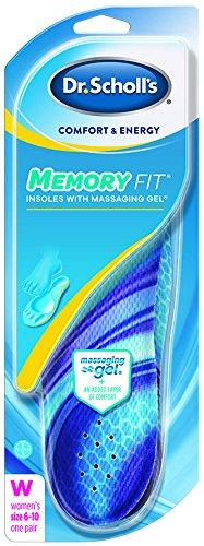Dr. Scholls Comfort and Energy Memory Fit Insoles for Women, 1 Pair, Size 6-10