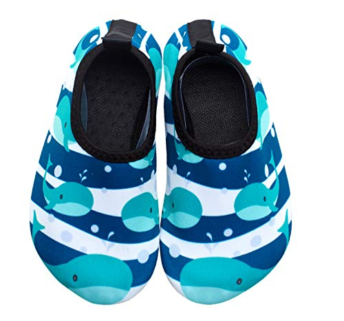 Giotto Kids Swim Water Shoes Quick Dry Non-Slip for Boys & Girls, G015G-Blue, 36-37
