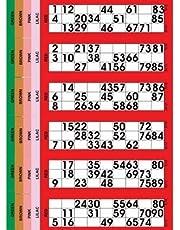 Jumbo Bingo Tickets pads 6 to view (Red)