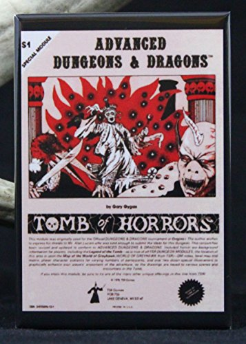 Dungeons & Dragons Tomb of Horrors Refrigerator Magnet. Dragon Fridge Magnet