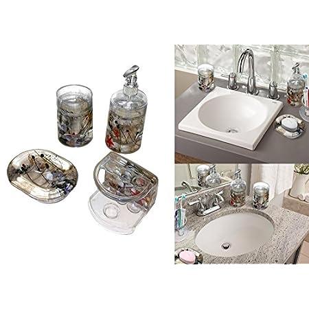 51QHDv10GvL._SS450_ 50+ Beach Bathroom Accessory Sets and Coastal Bathroom Accessories