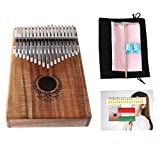 Thumb Piano 17 Keys Kalimba African Mahogany Mbira Garland Design Solid Finger Piano Mahogany Body DKL-17 with Bag/tuning hammer/study instruction.