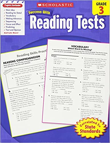 Amazoncom Scholastic Success With Reading Tests Grade 3