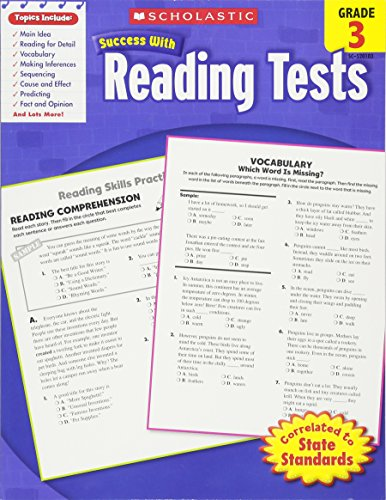 Scholastic Success With Reading Tests,  Grade 3 (Scholastic Success with Workbooks: Tests Reading) cover