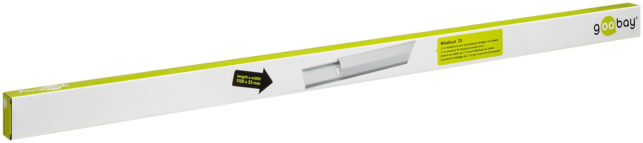 2465049-Goobay-90727-Canalina-di-Cablaggio-Alluminio-33mm-Lunghezza-1-1m-Bianc miniatura 3