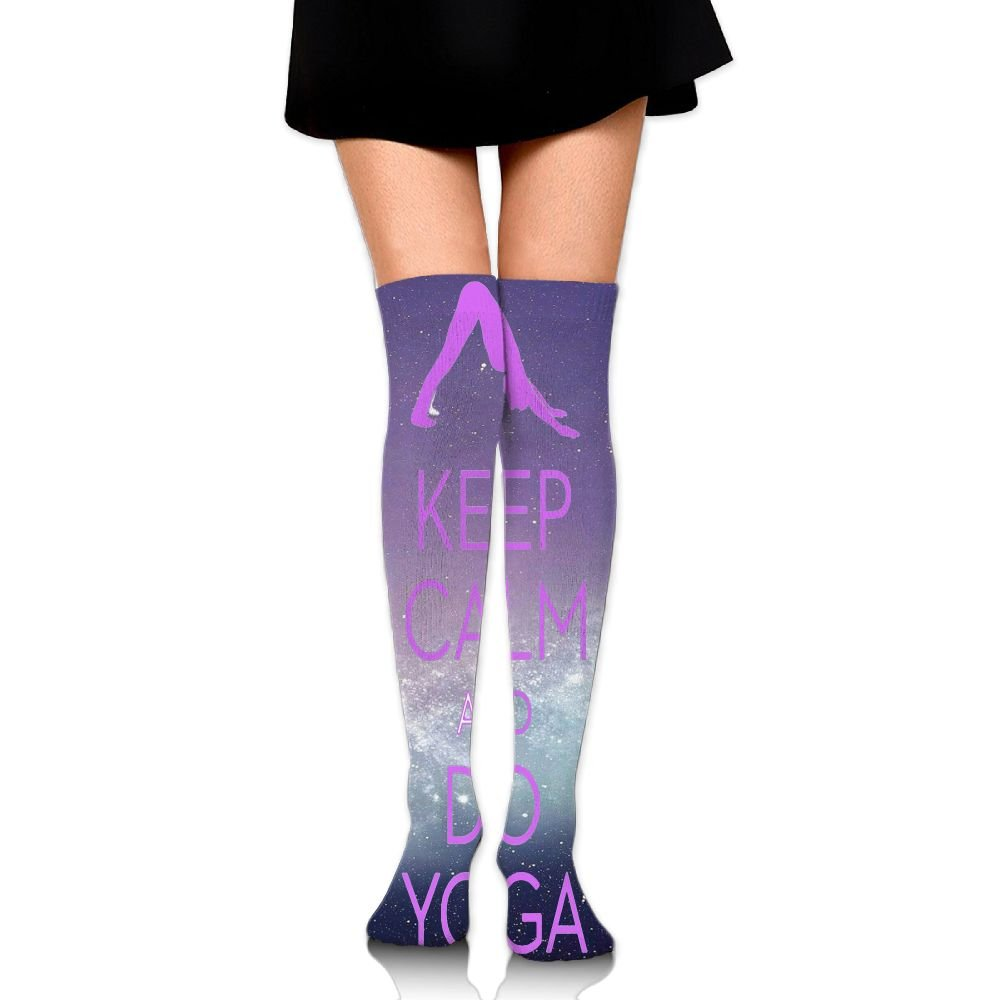 Amazon.com: CHI-M Womens Over Knee High Socks Keep Calm And ...