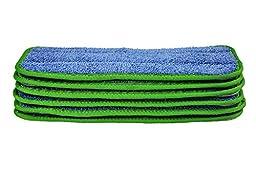 CleanAide 10 Inch All Purpose Twist Yarn Microfiber Mop Pads Green 6 Pack