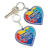 Lot of 12 Autism Awareness Someone With Autism Loves Me Heart Keychain