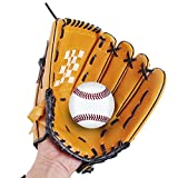 "Webetop Professional 10.5""/11.5""/12.5"" Left Hand Baseball Gloves Soft Thicken Durable PU Leather Infield Catcher's Mitt for Adult Teenage Kids Brown"
