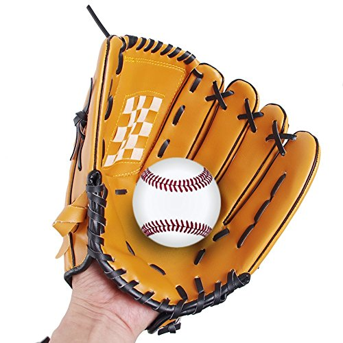 Webetop Adult Baseball Gloves Professional Left Handed Soft Thicken Durable PU Leather Infield Catchers Mitt Brown 12.5""