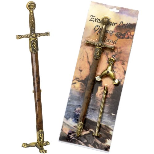 Excalibur With Sheath & Stand Letter Opener -