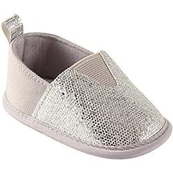 Luvable Friends Girl's Sparkly Slip-On (Infant), Silver, 12-18 Months M US Infant