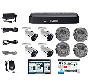 Lorex 8-Channel HD NVR with 2TB HDD, 4 3MP Cameras with 130' Night Vision by Lorex