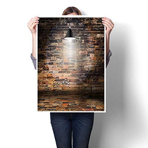 SCOCICI1588 Canvas Wall Art for Bedroom Home Decorations with Hooks Dark Cracked Bricks Ceiling Lamp Spot Light Life Building for Home Decoration,24