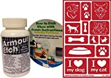 Glass Etching Kit, Pet Themed with Dog and Cat Stencils + How to Etch CD & Cream (3 oz)