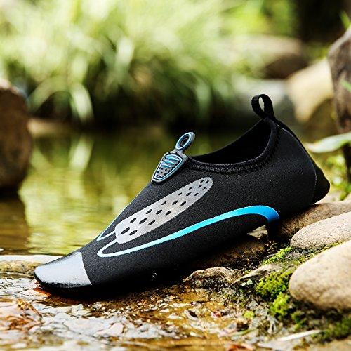 Humasol Uomo Donna Leggero Quick-dry Aqua Shoes Calzini Multifunzionali Ad Acqua Per Piscina Da Spiaggia D-nero E Blu