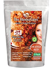 Red Orange Henna Hair Color/Dye 2 Pack - The Henna Guys