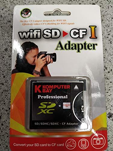 KOMPUTERBAY Slim CF Adapter SD SDHC SDXC WiFi-SD eyefi to Type I Compact Flash CF Card ...