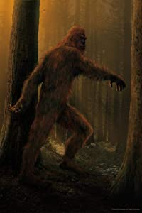 Bigfoot Walking in Forest by Vincent HIE Fantasy Cool Wall Decor Art Print Poster 24x36