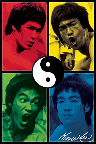 Aquarius Bruce Lee Color Poster Print, 24 by 36-Inch