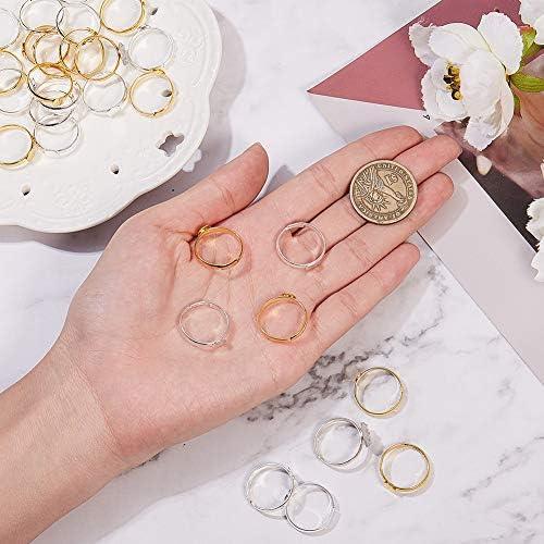 10//100 8mm Silver Plated Adjustable Flat Ring Base Blank Jewelry Findings HMAEK