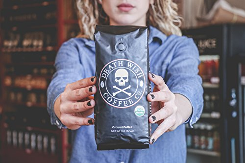 Death Wish Ground Coffee, The World's Strongest Coffee, Fair Trade and USDA Certified Organic, 16 Ounce by Death Wish Coffee Co. (Image #4)