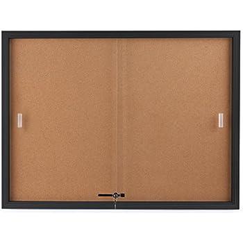 Amazon.com : BestRite 2 x 1.5 Feet Outdoor Enclosed Bulletin Board ...