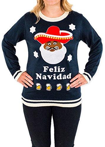 Feliz Navidad and Beer Ugly Christmas Sweater