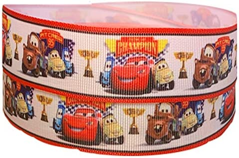 Cars Lightening Mcqueen Character 22mm Grosgrain Ribbon for Card Making or Bows