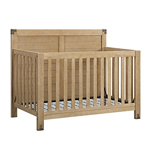 Wood Convertible Crib (Baby Relax Ridgeline 4-in-1 Convertible Crib, Rustic Natural)