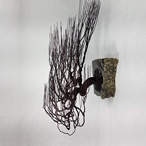 Windswept Wire Bonsai Tree Sculpture