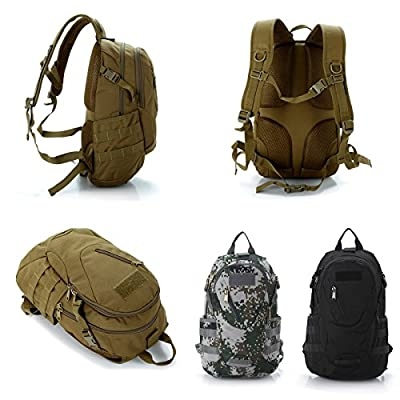 LEMONBEST® Functional Military Rucksacks Camping Hiking Backpack School Bookbag