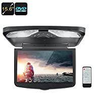 15.6-Inch Roof Monitor AV USB SD Region Free DVD FM Transmitter 32 Bit Game