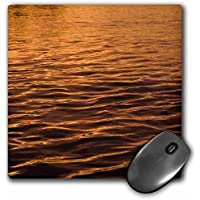 3dRose Ripples on water at sunset, natural pattern - NA05 DPB0019 - Mouse Pad, 8 by 8 inches (mp_84761_1)