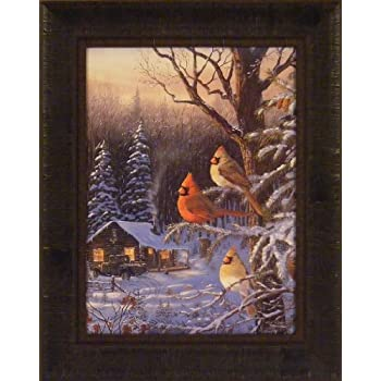 Amazon Com Cabin Fever By Terry Doughty 16x20 Cardinals