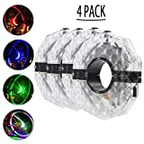Fochutech Rechargeable Bike Wheel Lights, Waterproof Bike Tire Lights 3 Modes, Colorful LED Bike Light – for Safety Warning & Bike Spoke Decoration (4 Pack) Review