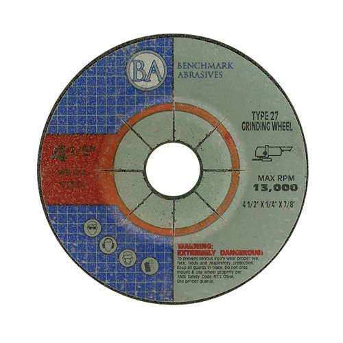4.5''x1/4''x7/8'' Pro Depressed Center Grinding Wheel - 50 Pack by Benchmark Abrasives