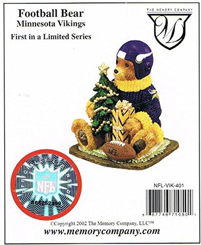 Minnesota Vikings Christmas Bear Figurine (1st in a Limited Series)